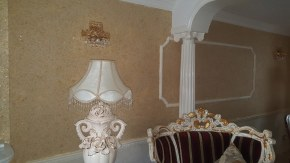 chair lamp gold plaster