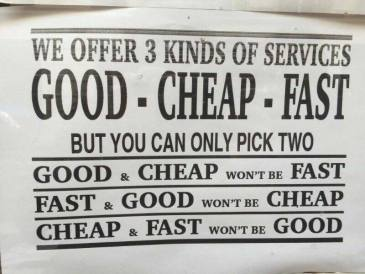 cheap fast etc