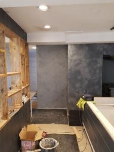 plasterboard stud work